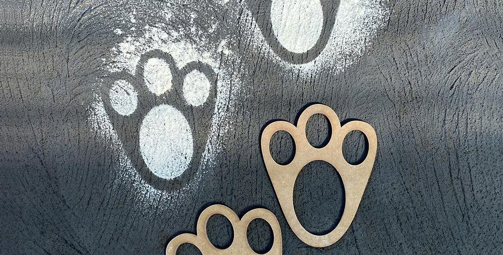 Easter bunny foot feet stencil - The Laser Cutting Studio Geelong, Australia