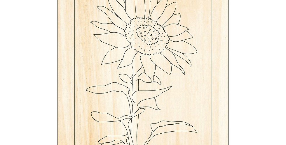 PIY Paint It Yourself Poster Sunflower Kids Room Nursery Artwork Boho - The Laser Cutting Studio Geelong, Australia