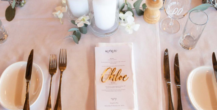 Wedding guest names cutout, place names, gold - The Laser Cutting Studio Geelong, Australia