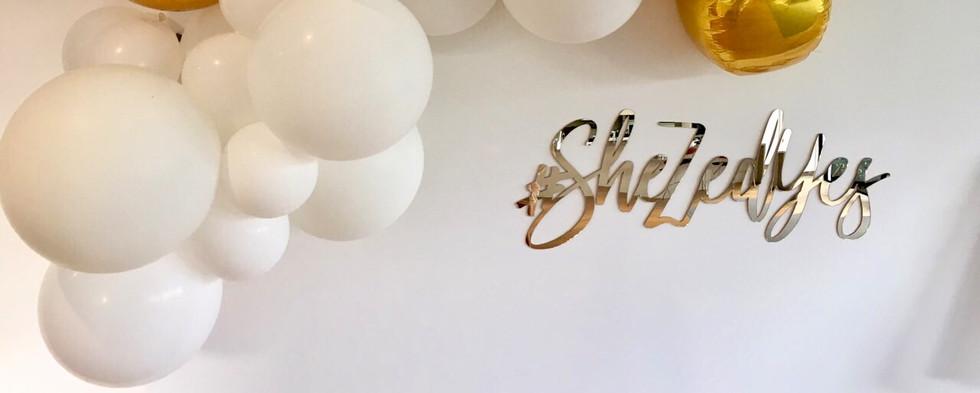 Gold Letter Sign