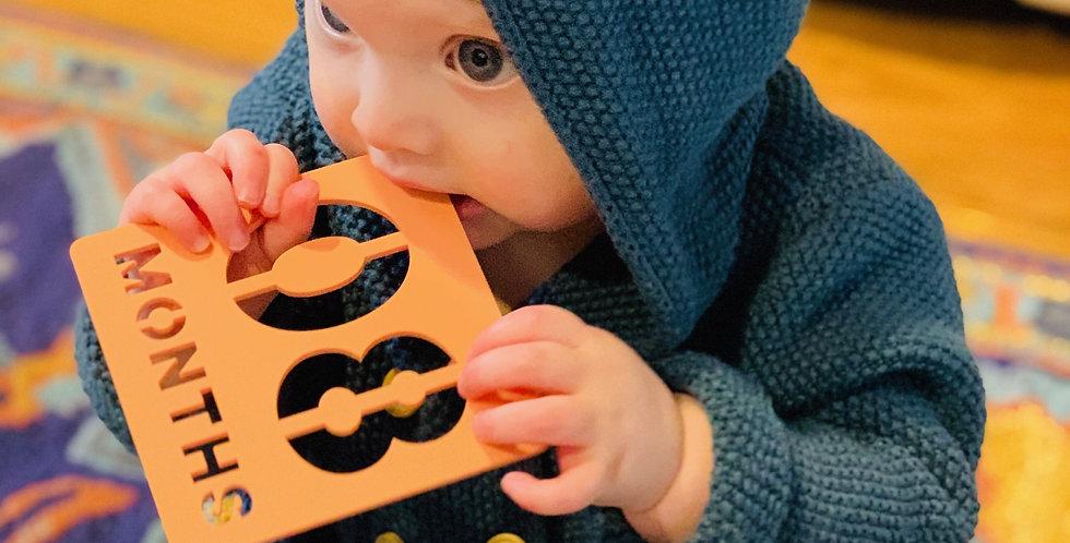 Cut Baby Milestones Square (Pastel)