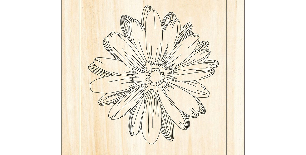 PIY Paint It Yourself Poster Flower Outline Kids Room Nursery Artwork Boho - The Laser Cutting Studio Geelong, Australia