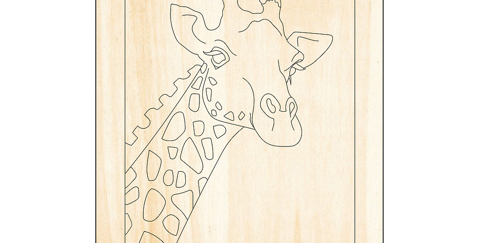PIY Paint It Yourself Poster Giraffe Kids Room Nursery Artwork Boho - The Laser Cutting Studio Geelong, Australia
