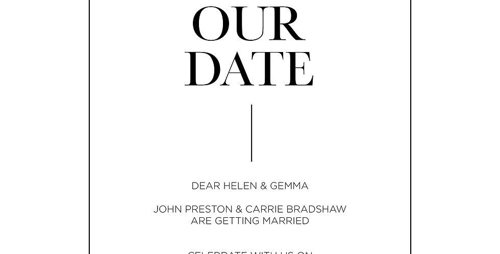 'Manhattan' Save The Dates (A5)