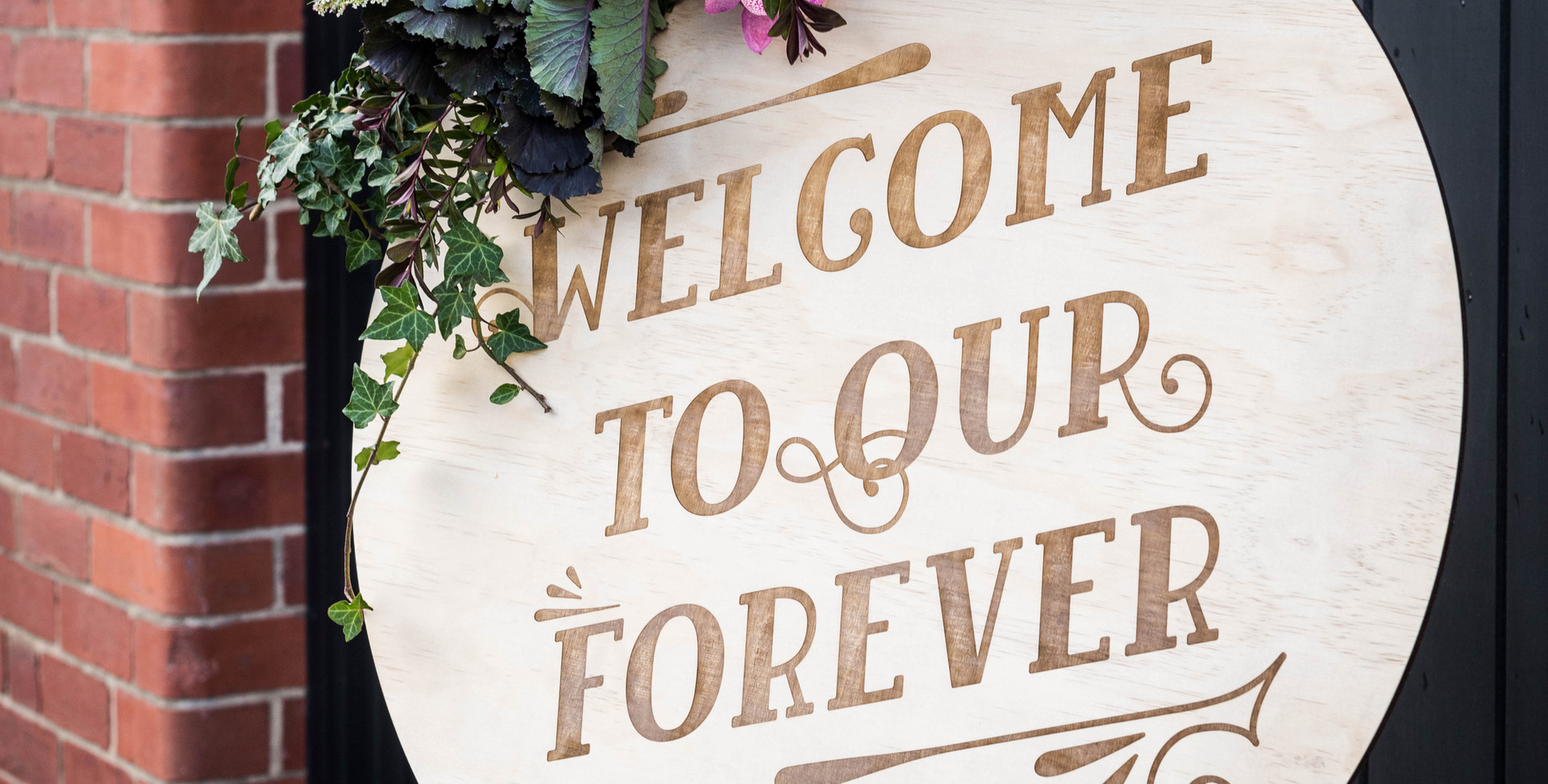 Engraved Timber Welcome Sign