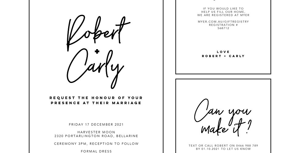 Wedding & Engagement Invitations - The Laser Cutting Studio Geelong, Australia