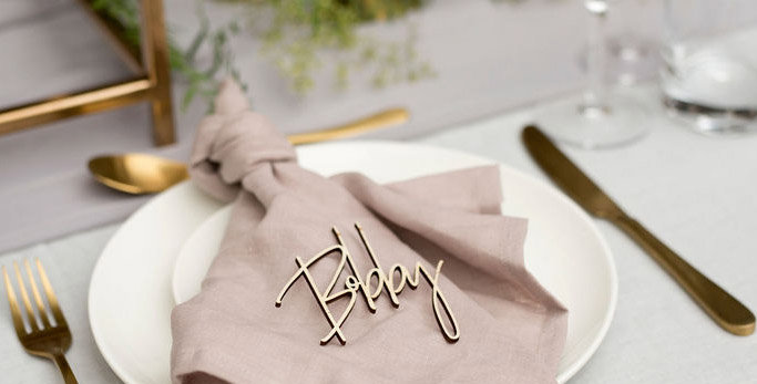 Wedding guest names cutout, place names, timber - The Laser Cutting Studio Geelong, Australia