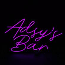 Bar neon sign, purple