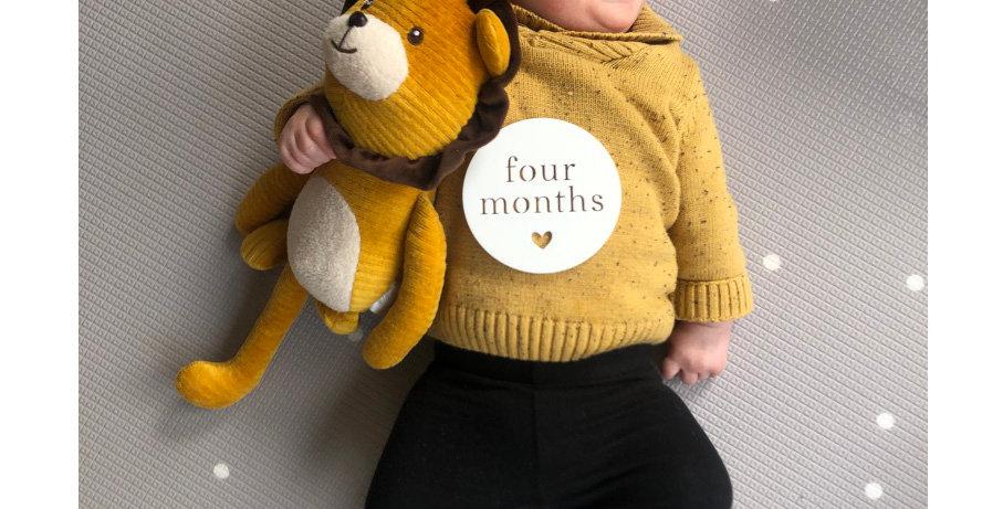 Cut Baby Milestones Round (Standard)