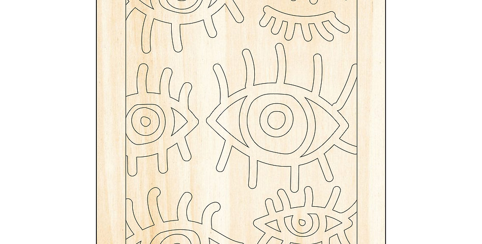 PIY Paint It Yourself Poster Eye Pattern Kids Room Nursery Artwork Boho - The Laser Cutting Studio Geelong, Australia