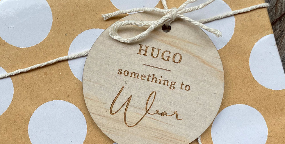 Reusable gift tags christmas kids personalised engraved name - The Laser Cutting Studio Geelong, Australia