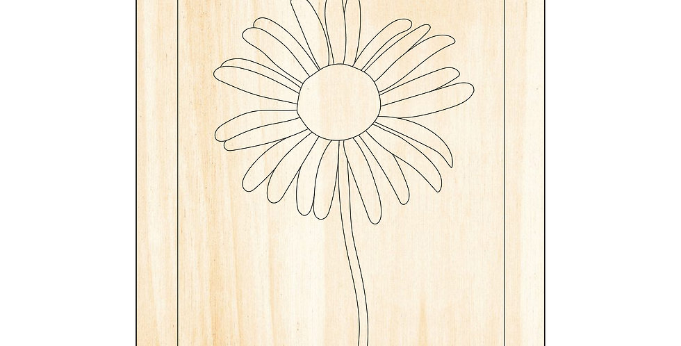 PIY Paint It Yourself Poster Daisy Flower Kids Room Nursery Artwork Boho - The Laser Cutting Studio Geelong, Australia