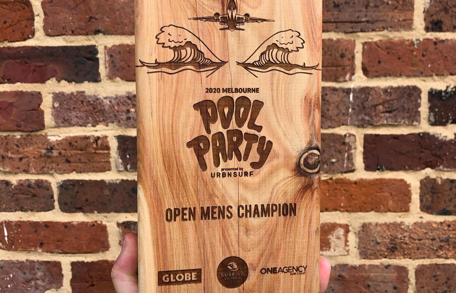 Hardwood Engraved Trophy