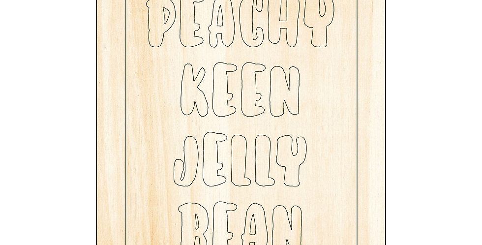 PIY Paint It Yourself Poster Peachy Keen Jelly Bean Kids Nursery Artwork Boho - The Laser Cutting Studio Geelong, Australia