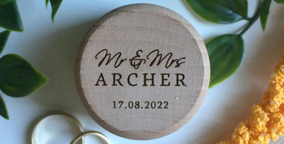 Wedding engagement ring box, engraved timber - The Laser Cutting Studio Geelong, Australia