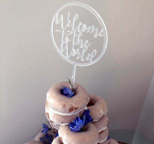 Welcome to The World cake topper
