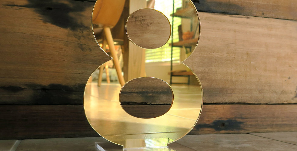 Wedding table number cutout, gold - The Laser Cutting Studio Geelong, Australia