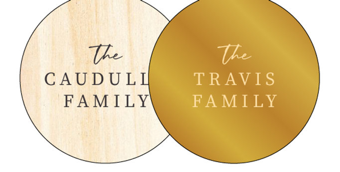 Family Name Personalised Gift Christmas Bauble Made in Australia - The Laser Cutting Studio Geelong, Australia