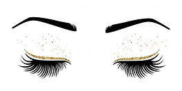 eyelash extension picture with gold.jpg