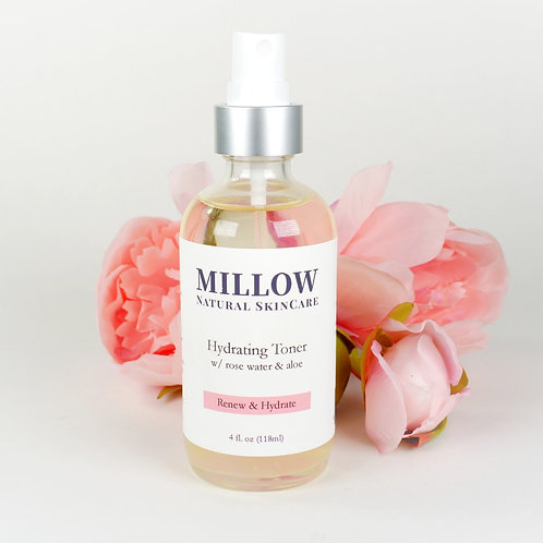 Hydrating Facial Toner with Aloe & Rose Water