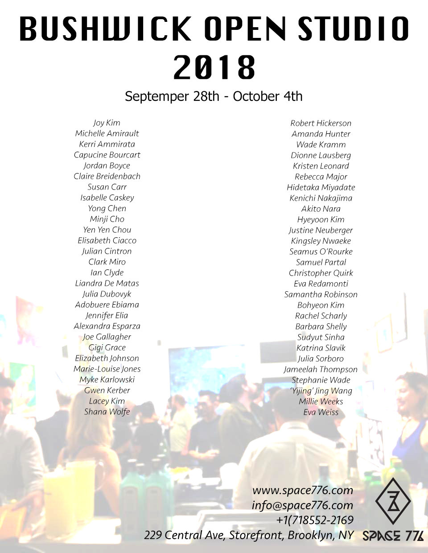 Bushwick Open Studio 2018