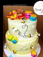 """Baby Winnie the Pooh"" Cake #sweetsbyjaz"