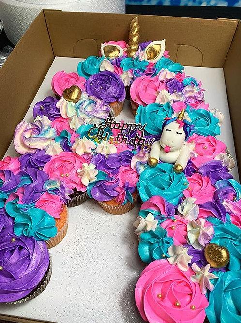 Unicorn Cupcake Letter Cake