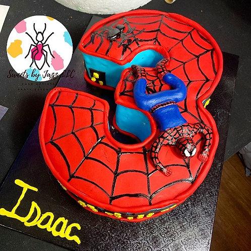 Spider-Man number cake