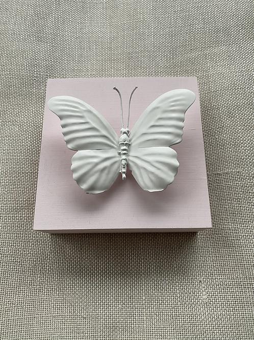 "Pink Butterfly Mini 5""x5"""