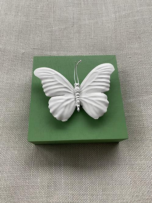 "Green Butterfly Mini 5""x5"""