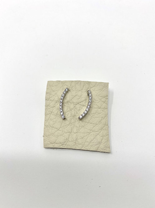 Silver pave curved bars