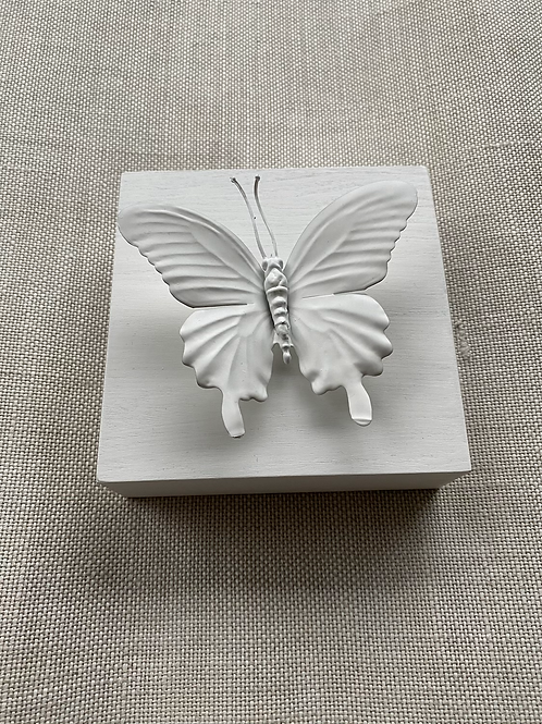 "White Butterfly Mini 5""x5"""