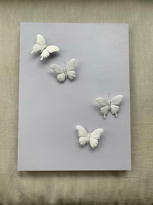 """Lavender Butterflies 18""""x24"""""""
