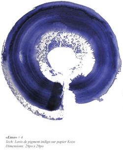 «Enso» bleu # 4