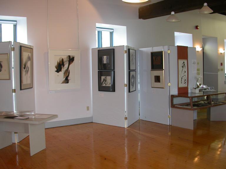 Mise en salle de l'exposition