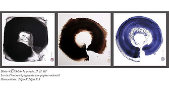 Série «Enso» le cercle, I  II III, Elise Dumais