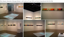 Exposition, mise en salle, Val d'Or