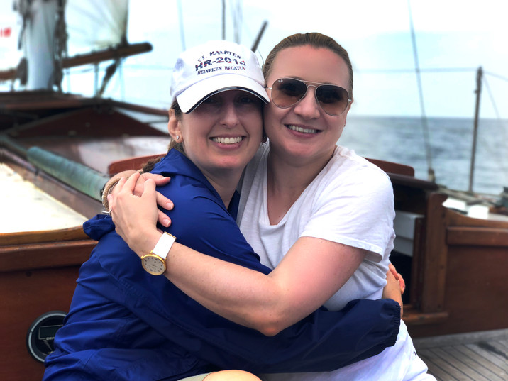 Karen and Stacia Gitana Sail Sailing BFF