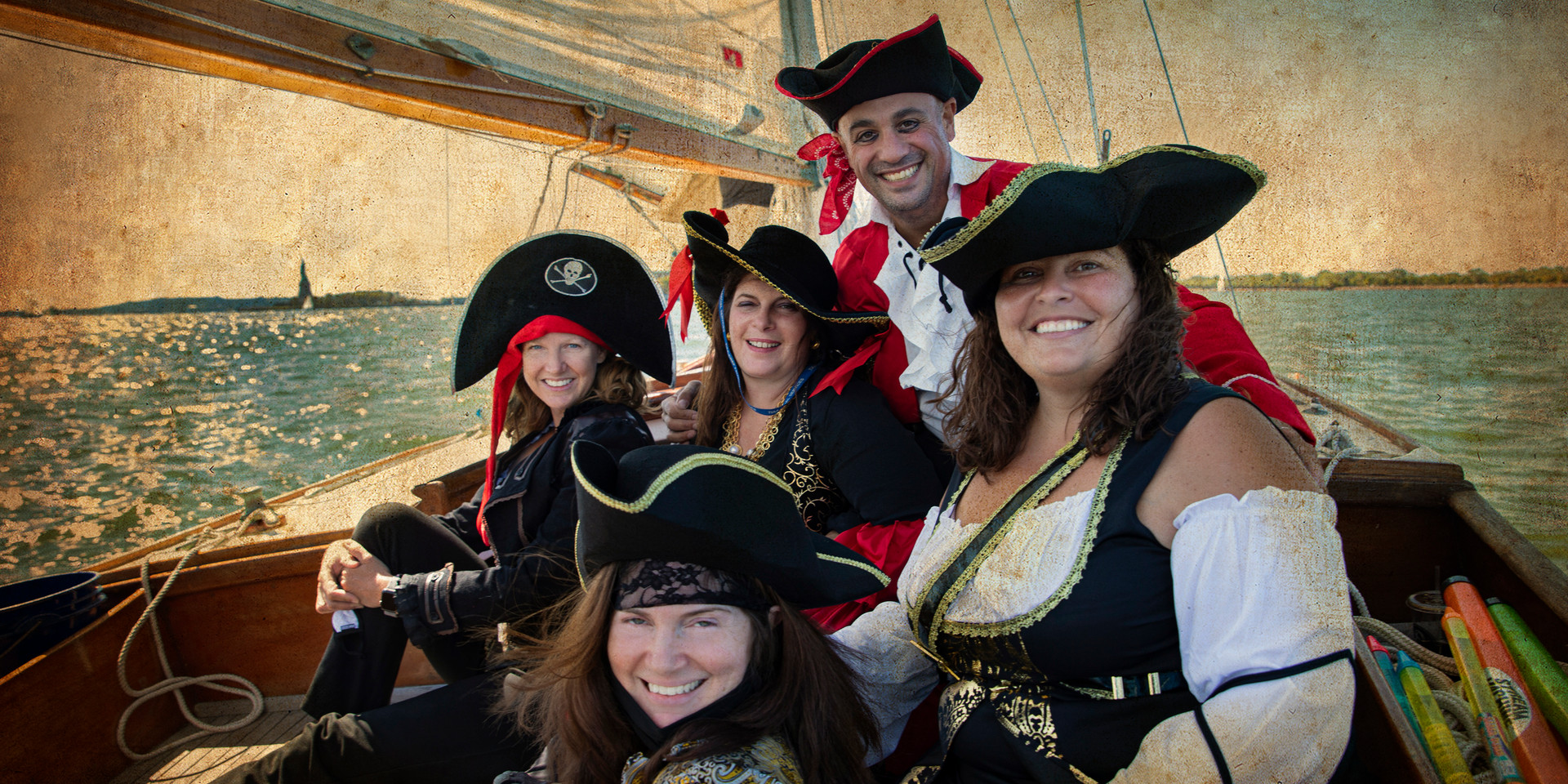 Ben and his PIRATE wenches