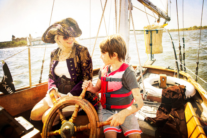 Pirate Stacia and Pirate Colin