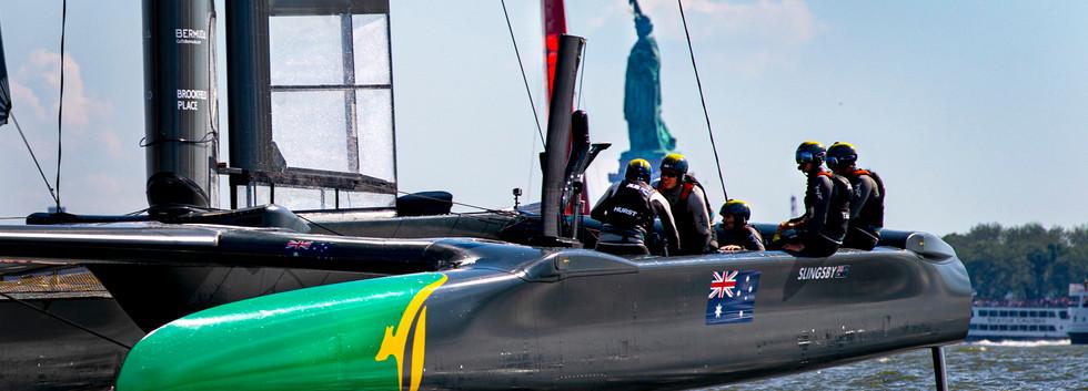 Auatralia welcomes Lady Liberty on board