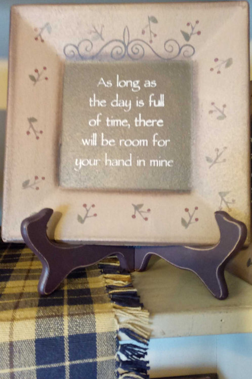 As Long As (decor plate)