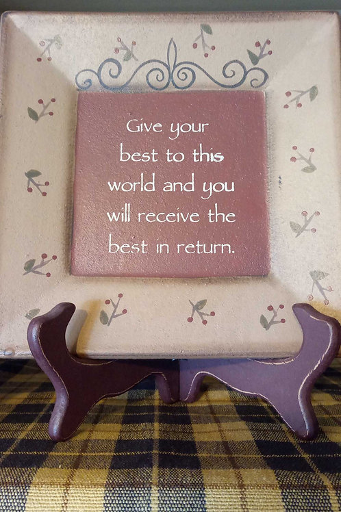 Give Your Best (decor plate)