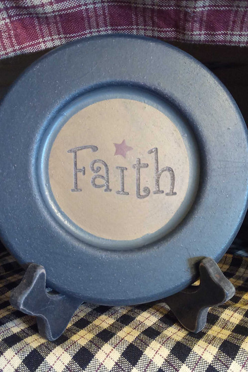 Faith decor plate- mini