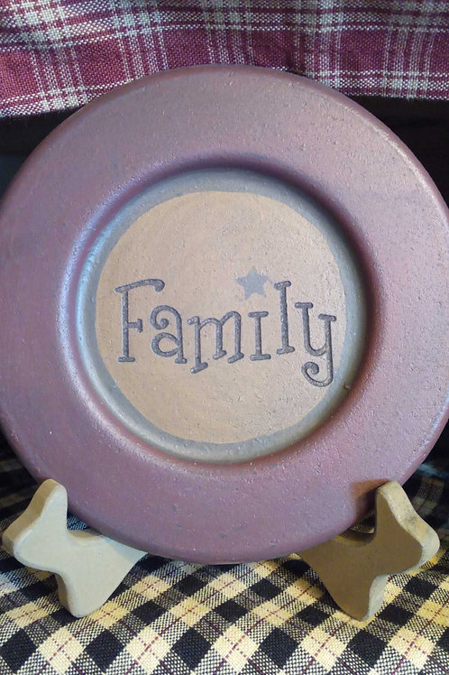 Family decor plate- mini