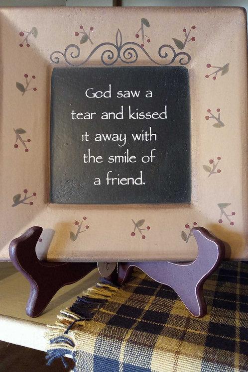 God Saw a Tear (decor plate)