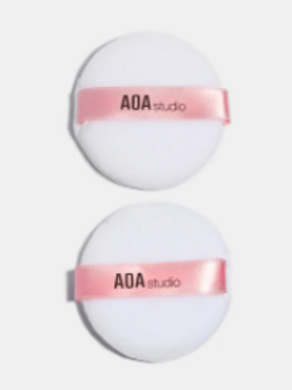 AOA Cotton Puff- 2 white (2per pk)