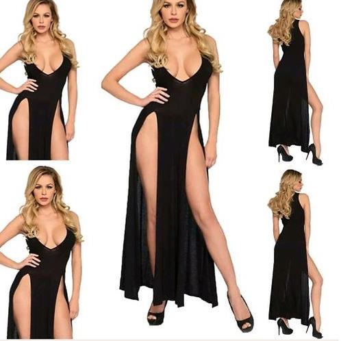 Black dress with 2 side split