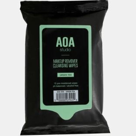 AOA Makeup remover wipes-Green tea