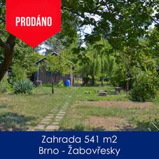 Zahrada Žabovřesky - prodej - Zahrada 54